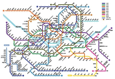 North Korean Subway Map.January 2012 Amanda M Grant